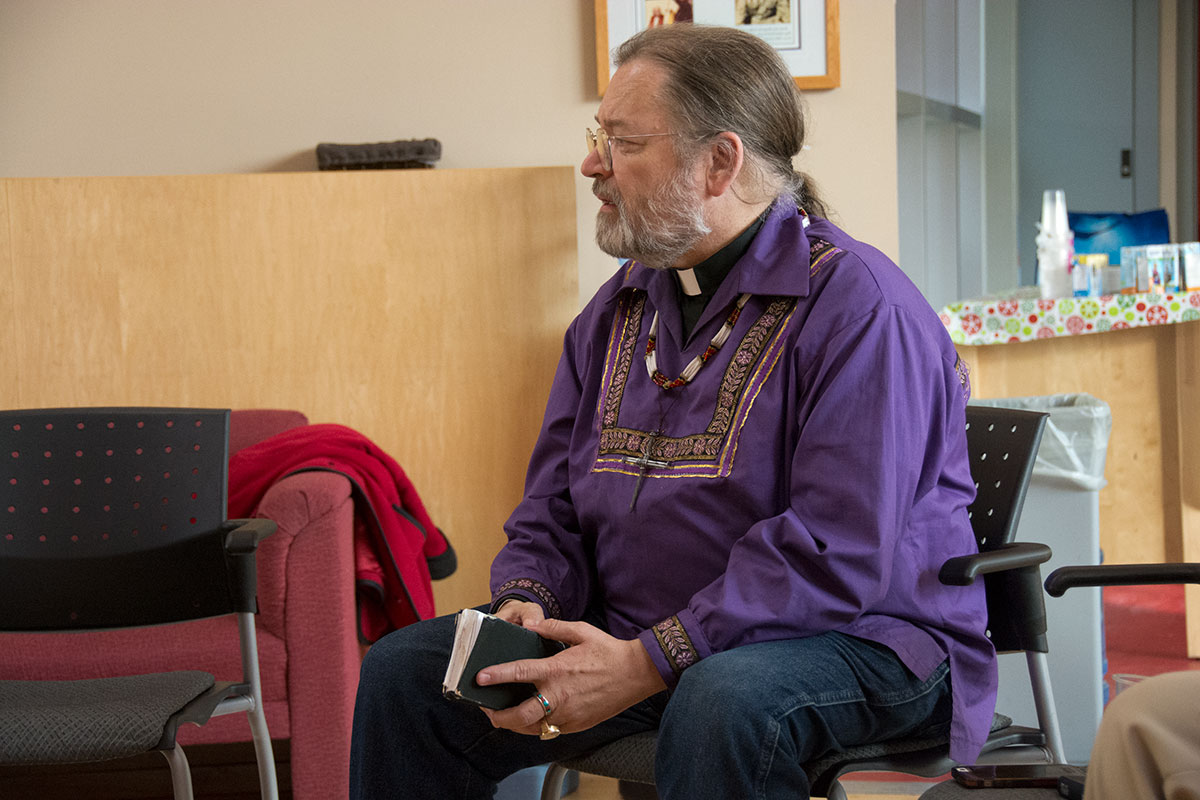 Bp Mark 2016 visits Spiritual Affairs, Trent University for Truth and Reconciliation.